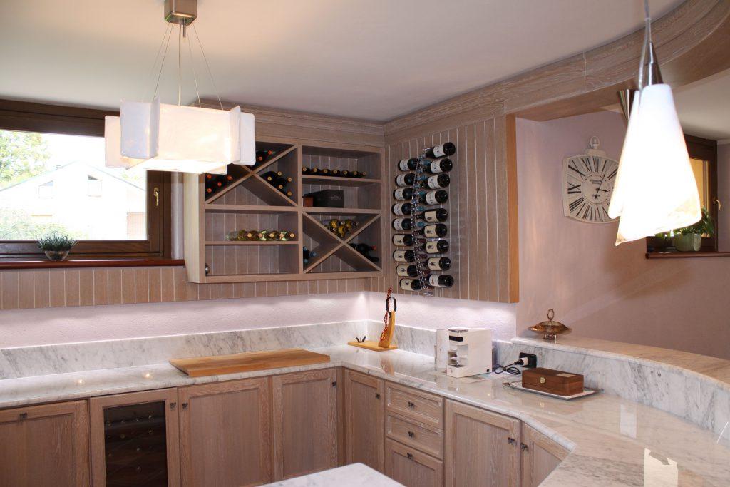 Cucina rovere decapè cipria