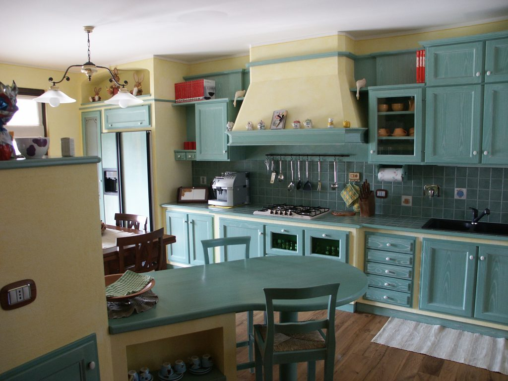 Cucina finta muratura frassino - Immagini cucine muratura ...