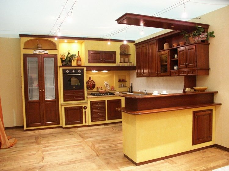 Cucina ciliegio finta muratura - Cucine moderne in muratura ...